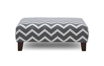 Pattern Banquette Footstool Tryst Pattern
