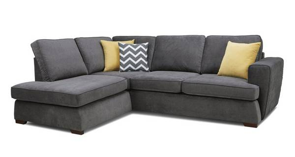 Tryst Right Hand Facing Arm Open End Deluxe Sofa Bed Corner Sofa