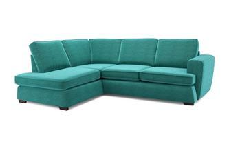 Tryst Right Hand Facing Arm Open End Deluxe Sofa Bed Corner Sofa Plaza