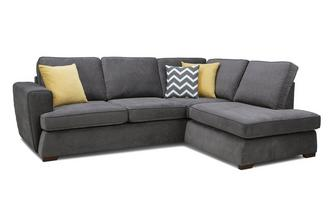 Left Hand Facing Arm Open End Deluxe Sofa Bed Corner Sofa Plaza