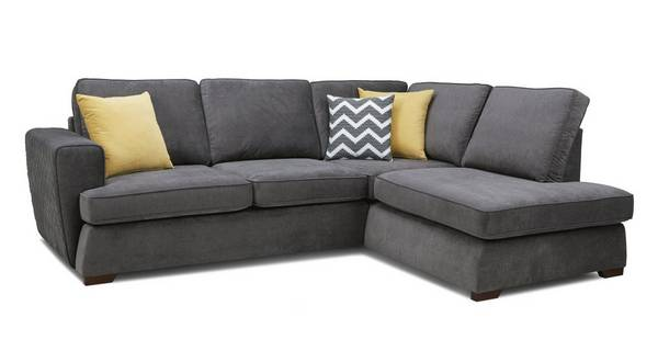 Tryst Left Hand Facing Arm Open End Deluxe Sofa Bed Corner Sofa