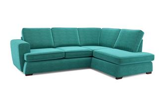 Tryst Left Hand Facing Arm Open End Deluxe Sofa Bed Corner Sofa Plaza