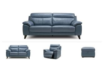 Tucci Clearance 3 Seater Sofa, 2 Seater, Power Recliner Chair & Stool Premium