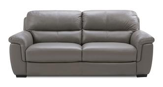 Tula Leather and Leather Look 3 Seater Sofa
