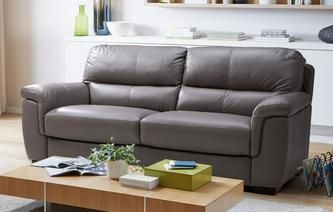 Tula Leather and Leather Look 3 Seater Sofa Premium