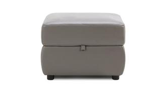 Tula Leather and Leather Look Storage Footstool