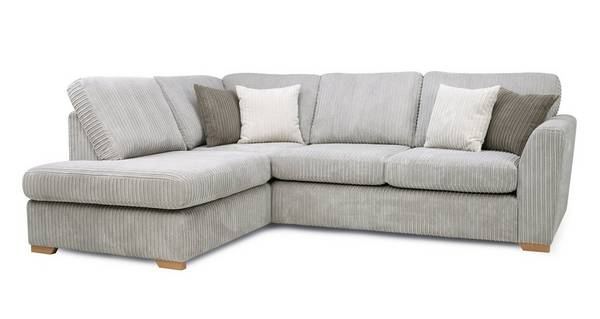 Turner Right Hand Facing Arm Open End Deluxe Corner Sofa Bed