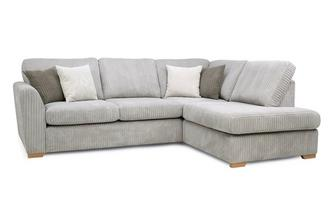 Left Hand Facing Arm Open End Deluxe Corner Sofa Bed Marley