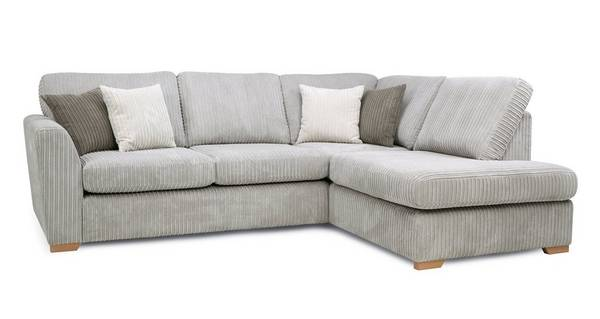 Turner Left Hand Facing Arm Open End Deluxe Corner Sofa Bed