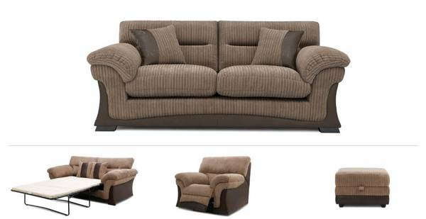 Twiby Clearance 3 Seater Sofa, 2 Seater Sofabed, Power Recliner Chair & Footstool