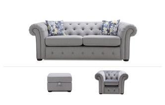 3 Seater Sofa, Chair & Footstool Opera