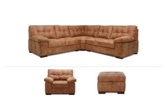 Valentia Clearance 3 Piece Corner Sofa, Chair & Stool Grand Outback