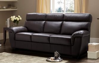Vantage Leather and Leather Look 3 Seater Sofa Hazen