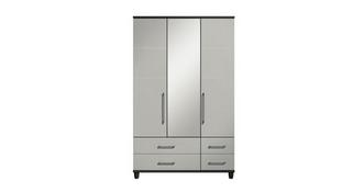 Varley 3 Door Mirror Robe with Drawers