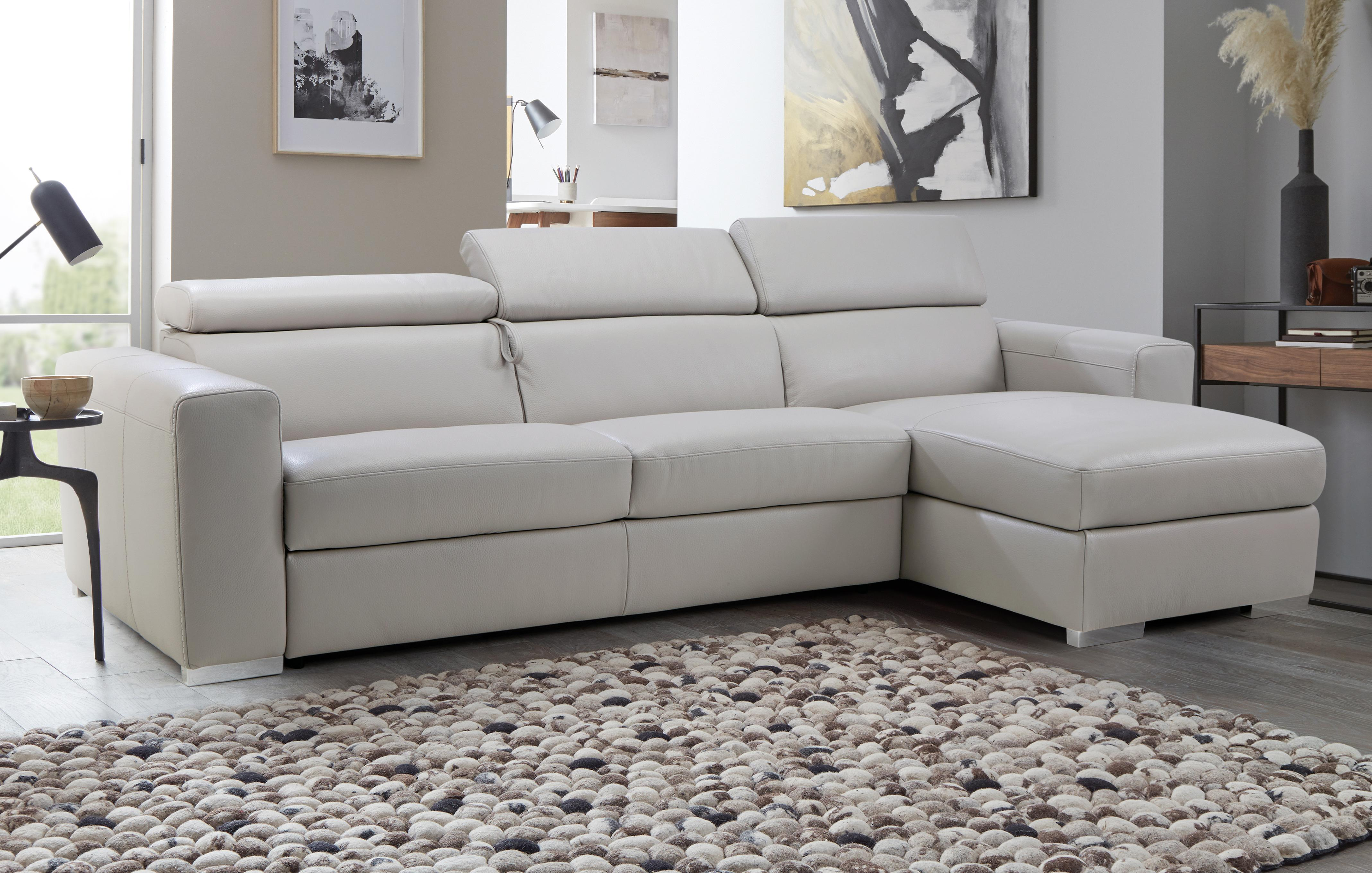 Chaise Sofa Bed Leather Baci Living Room