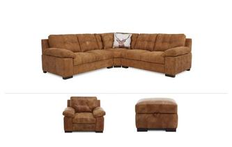 Veneto Clearance 3 Piece Corner Sofa, Chair & Stool Grand Outback