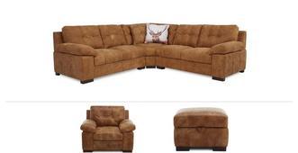 Veneto Clearance 3 Piece Corner Sofa, Chair & Stool