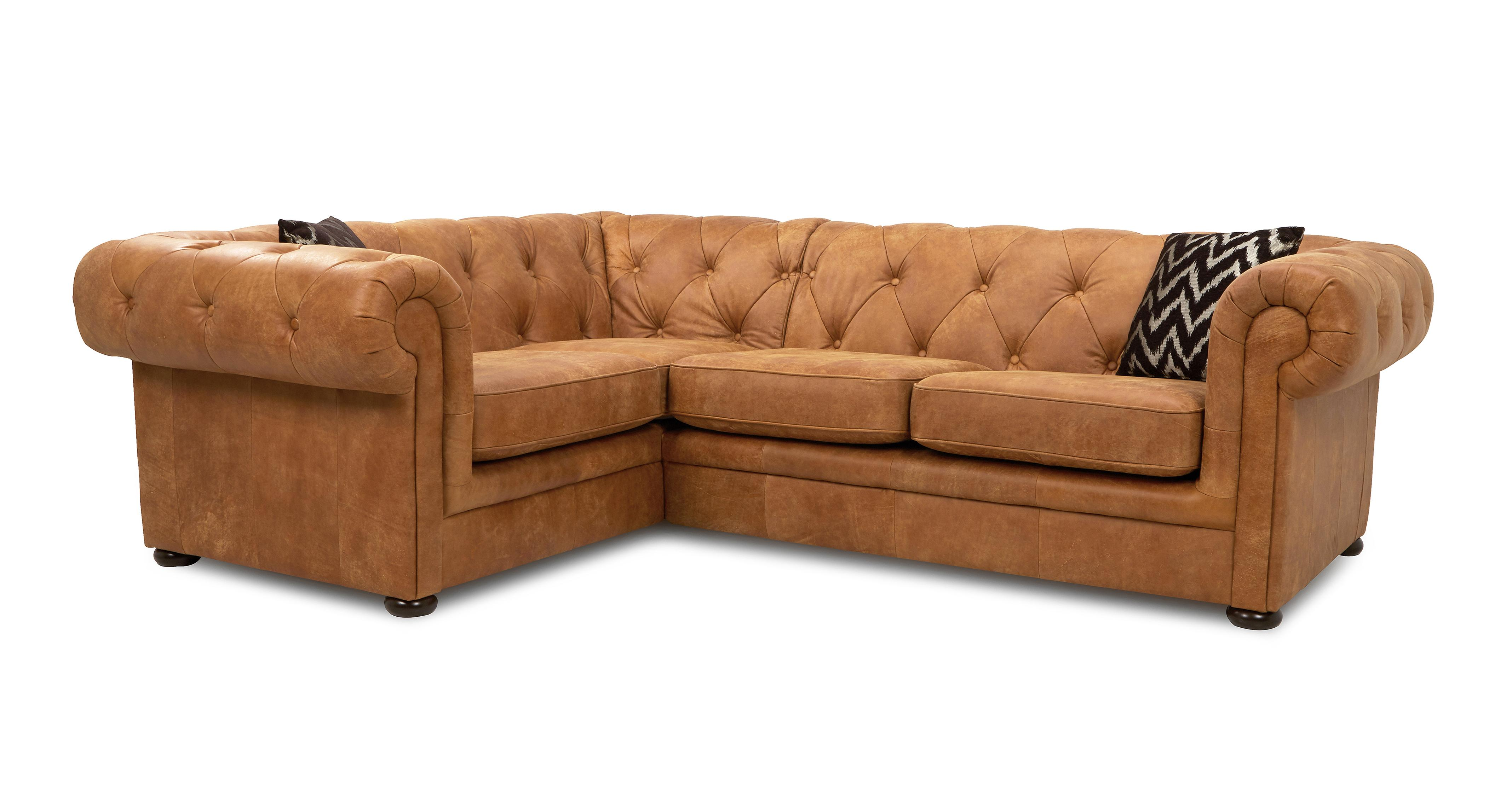 Quick View Right Hand Facing Arm 2 Seater Corner Sofa Saddle