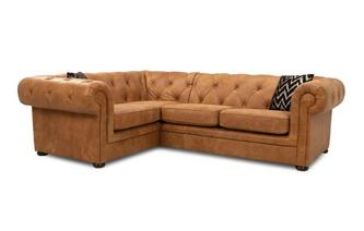 Right Hand Facing Arm 2 Seater Corner Sofa Saddle