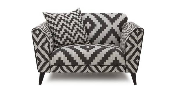 Verve Pattern Cuddler Sofa