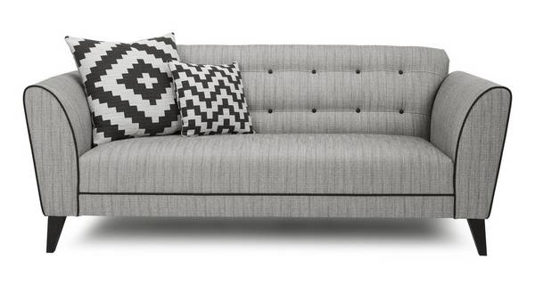 Verve Plain 3 Seater Sofa