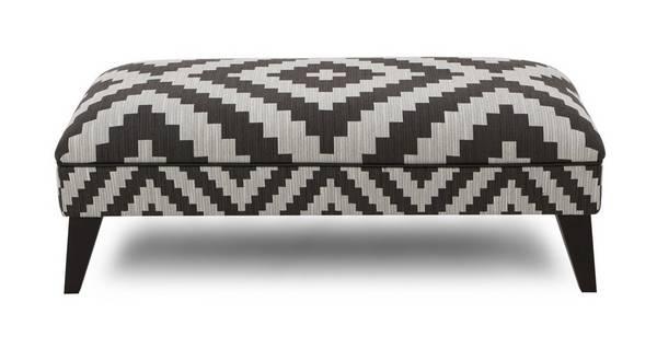 Verve Pattern Large Footstool