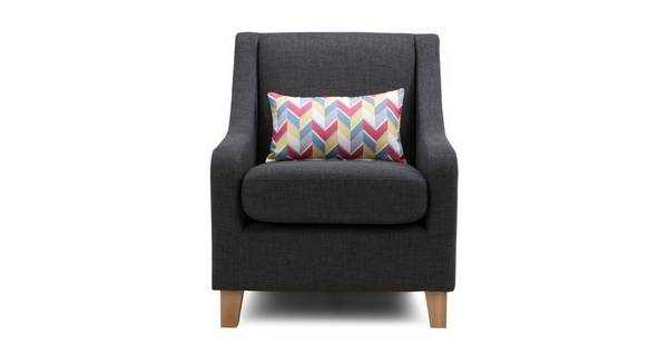 Vesta Accent Chair with Pattern Bolster