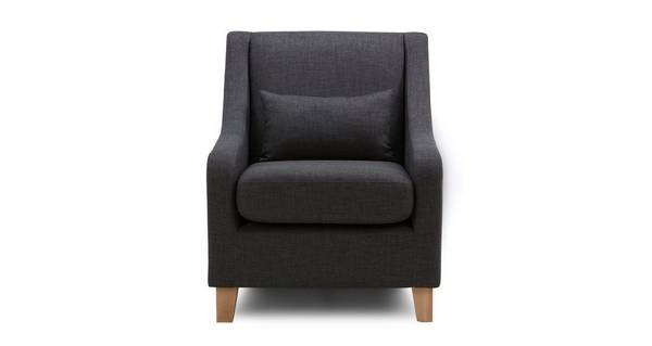 Vesta Accent Chair with Plain Bolster