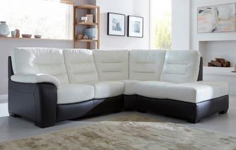 Vicenzo Option A Left Hand Facing Arm 2 Piece Corner Sofa Essential