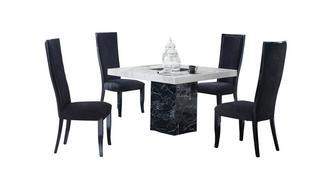 Vienna Vierkante tafel en 4 Oslo stoelen