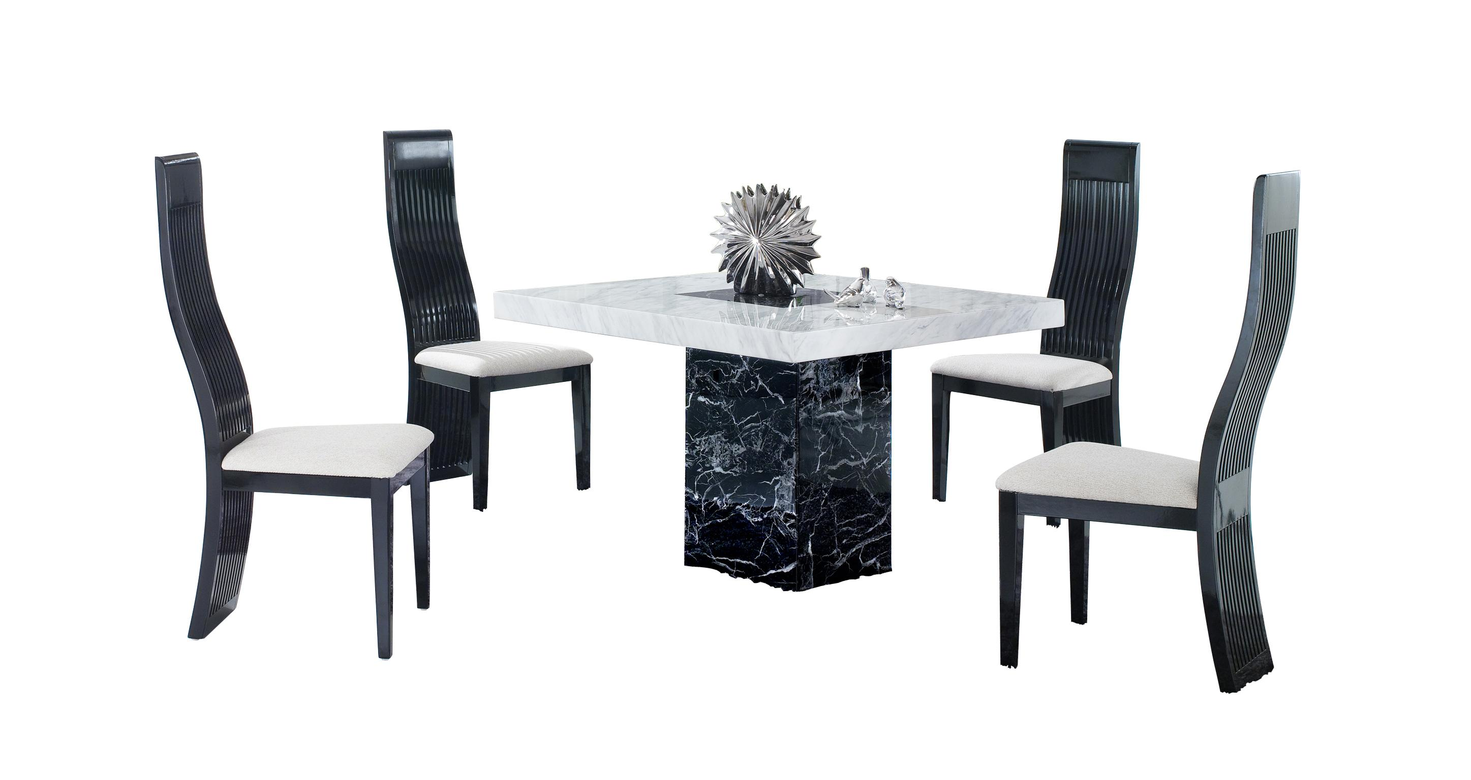 Vienna Square Table And 4 Tulsa Chairs Vienna Marble Dfs