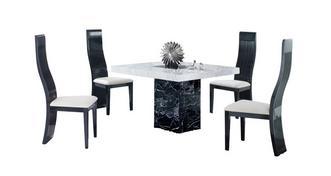 Vienna Vierkante tafel en 4 Tulsa stoelen