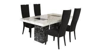 Vienna Vaste tafel en 4 Oslo stoelen