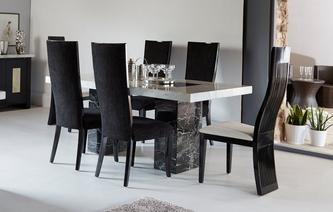 Vienna Fixed Table and 4 Oslo Chairs Vienna Marble