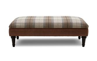 Virgo Check Top Large Footstool Oakland