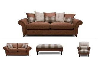 Virgo Clearance 4 Seater Sofa, 2 Seater, Chair & Stool Oakland