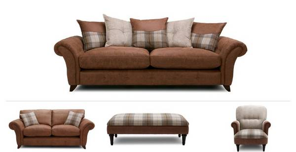 Virgo Clearance 4 Seater Sofa, 2 Seater, Chair & Stool
