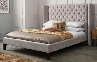 bed. Contemporary Bed Viscount Double Bedframe Royale Crush Throughout Bed
