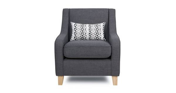 Vision Accent Chair with 1 Pattern Bolster
