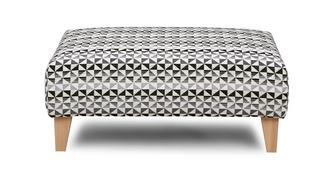 Vision Pattern Banquette Footstool