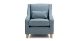 Vivid Accent Chair with Plain Bolster