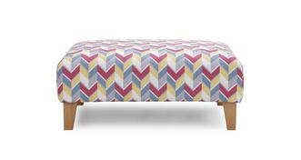 Vivid Pattern Banquette Footstool