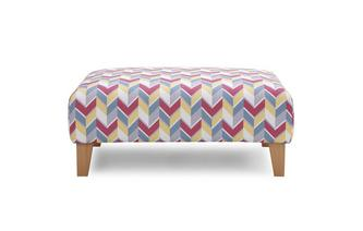 Pattern Banquette Footstool Vivid Scatter