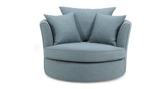Vixx Large Swivel Chair with Plain Scatters