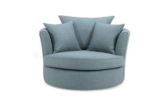 Large Swivel Chair with Plain Scatters Revive
