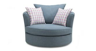 Vixx Large Swivel Chair with Pattern Scatters