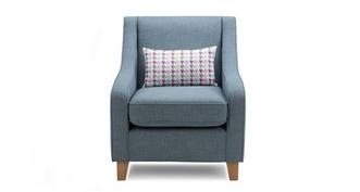 Vixx Accent Chair with Pattern Bolster