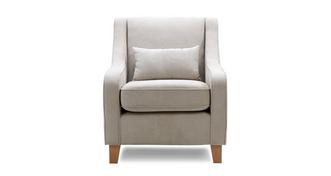 Vixx Accent Chair with Plain Bolster