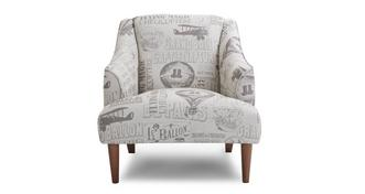 Voyage Gedessineerd Accent fauteuil