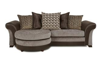 4-zits Lounger losse rugkussens Eternity